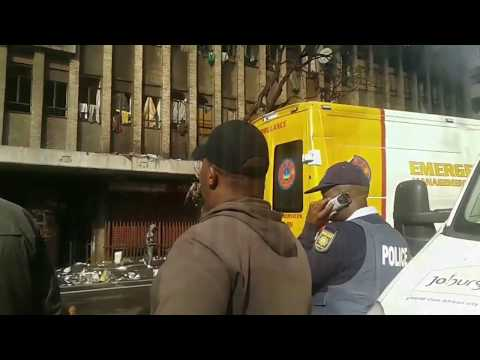 Fire Hijacked Cape York building in Johannesburg CBD - 1 person died - Jumped to escape fire