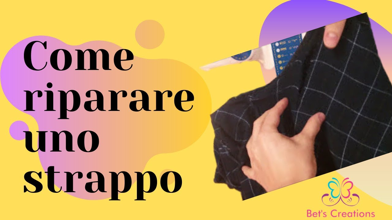 Come To Strappo Tear Repair how Uno Pantaloni Ai A Riparare 1UAq1v