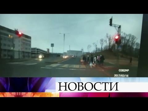 ВоВладивостоке женщина-водитель сбила нескольких человек напешеходном переходе.