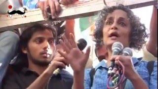 Arundhati Roy speech at JNU protest with kanhaiya Kumar |  March for Democracy JNU row