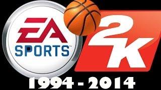 History of NBA Video Games - NBA 2k and NBA Live 1994-2014