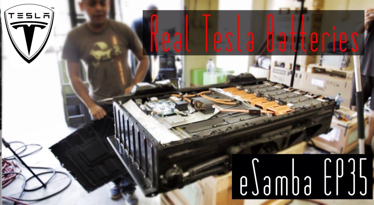 Diy 18650 Vs Real Tesla Lithium Batteries Vw Bus Esamba Ev