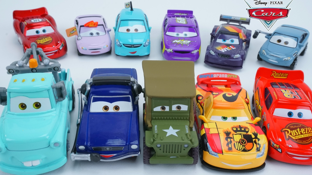 Disney Pixar Cars 2017 Collection New Series Characters Lightning Mcqueen Mater Racing Youtube