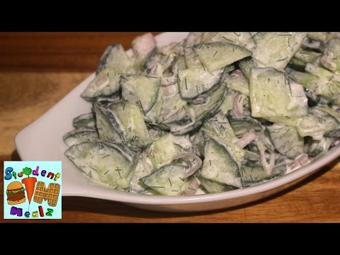 EASY CREAMY CUCUMBER SALAD RECIPE