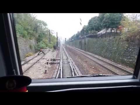 train cab view:leaving Huaihua railway station in China