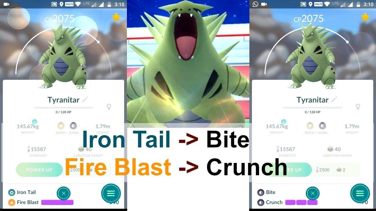 Tyranitar Best Moveset Pokemon Go   Best 2020
