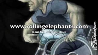 Rollstuhl Rollstuhlfahrer Jeans Mode im Rollstuhl Fashion Thumbnail