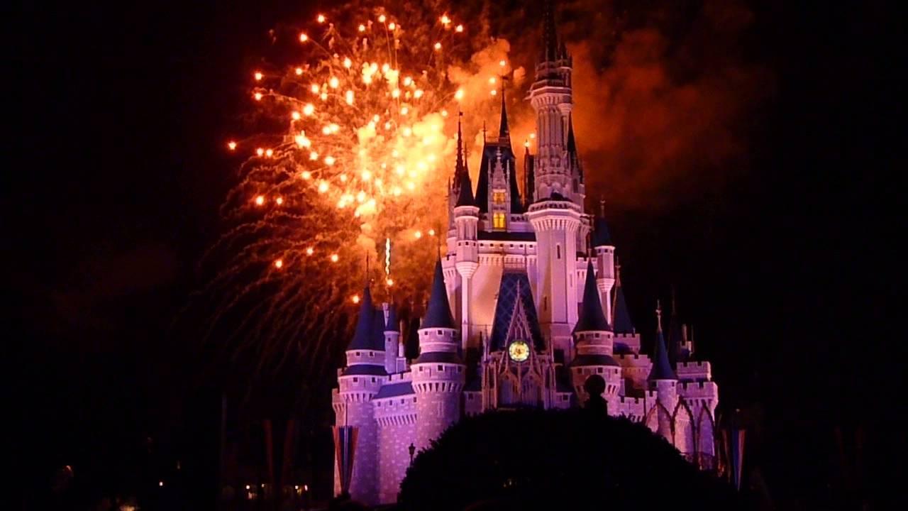 Walt Disney World Cinderellas Castle Fireworks YouTube