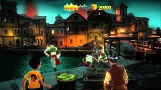 Disneyland Adventures Pirates of the Caribbean Tiana Xbox 360 Kinect gameplay