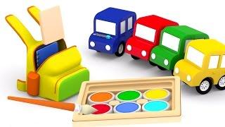 Развивающие мультики про машинки. 4 машинки: готовимся к школе! 1 сентября. Мультики для детей.