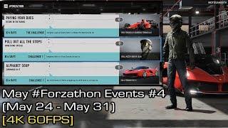 Forza Motorsport 7 - May #Forzathon Events #4 (May 24 - May 31) [4K 60FPS]