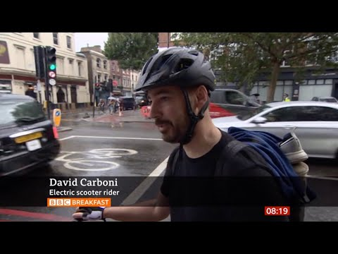BBC News: E-scooters In London