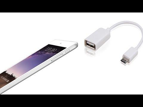 White Micro USB B Male to USB A Female OTG - Test
