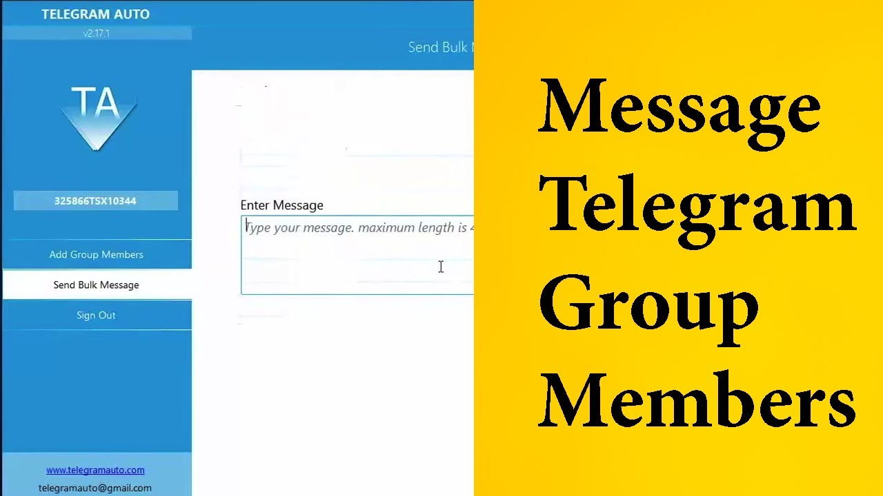 How to Send Bulk Message To Telegram Group Members