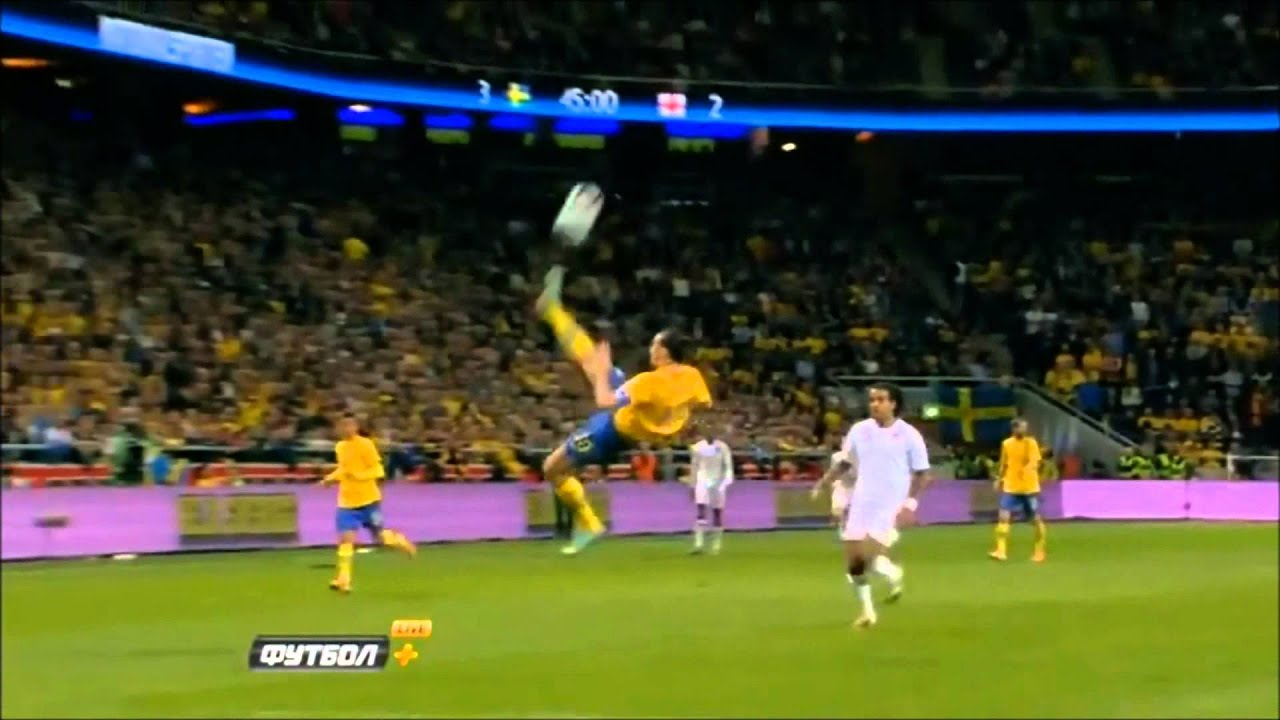 Zlatan Ibrahimovic Bicycle Kick vs England - YouTube