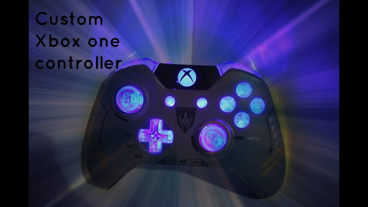 Custom Xbox one Advanced warfare controller Button Under Glow ...
