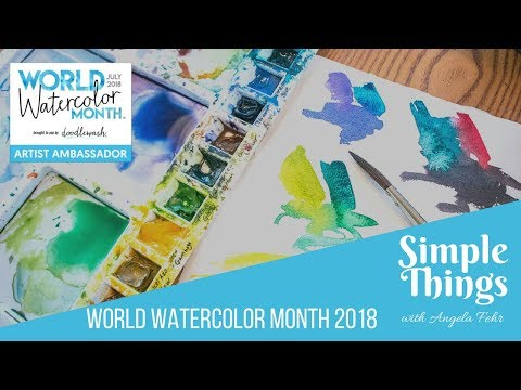 Watercolor Skill Building: 4 Simple Landscapes Exercise