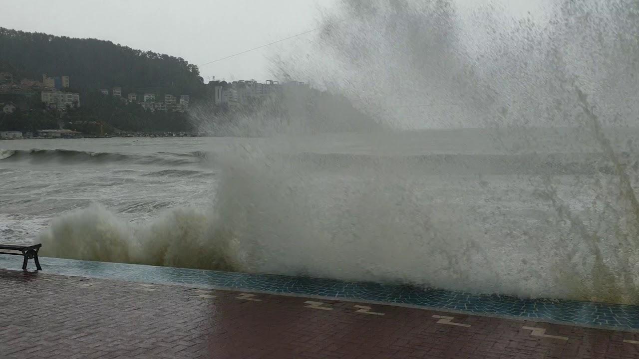 17호 태풍 타파 거제도 덕포해수욕장
