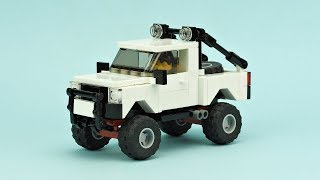 LEGO Off-Road Pickup. MOC Building Instructions.