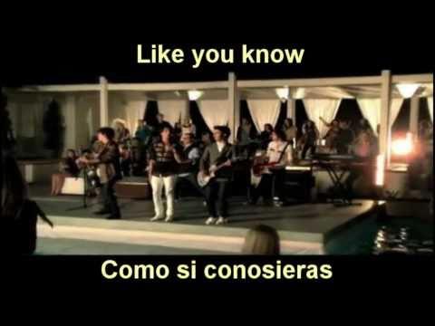 Burnin Up  Jonas Brothers  InglesEspañol With The  Music  HD