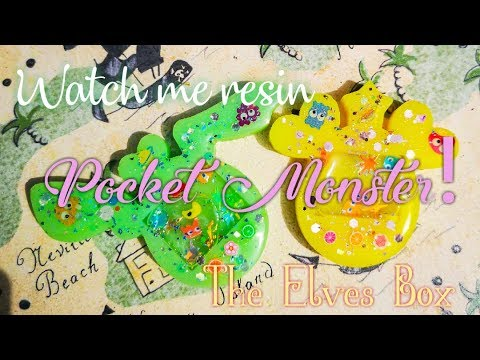 Tutorial Pocket Monster resina Shaker | March Premium Elves Box | Sophie and Toffee