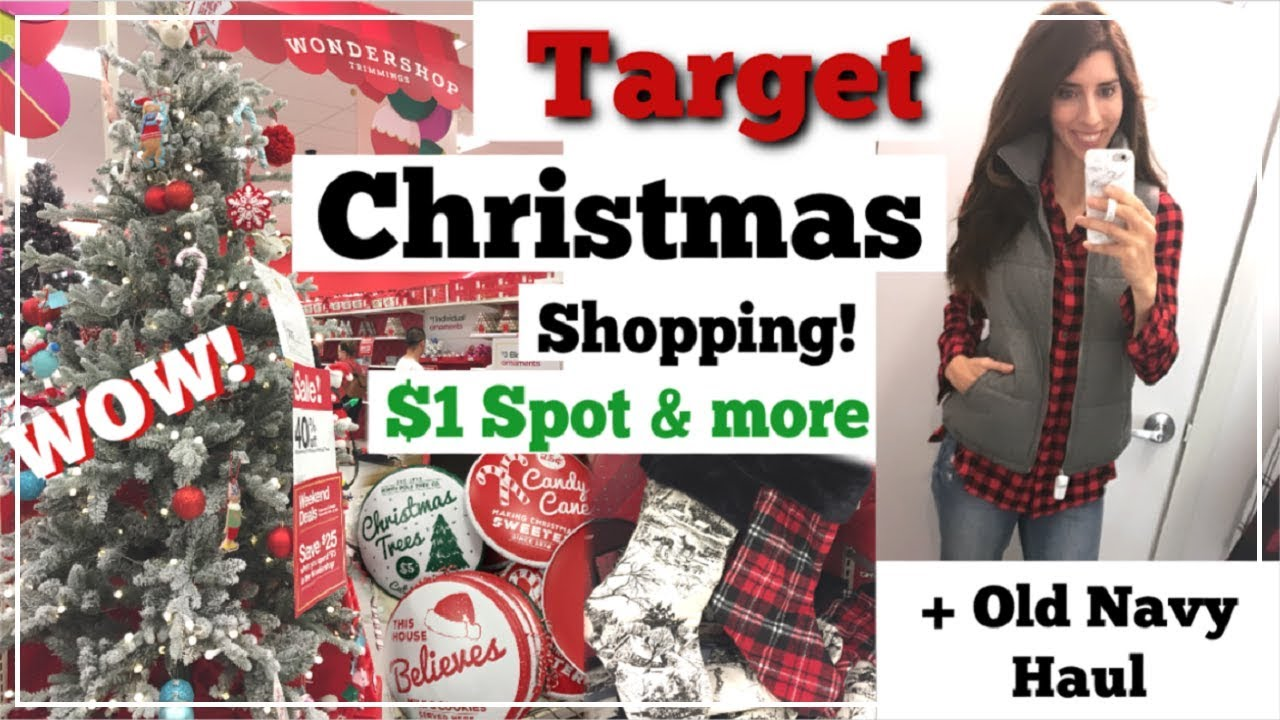 Target $1 Spot Christmas Shop With Me & More + Old Navy Haul | Day ...