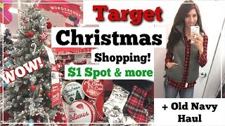 Target $1 Spot Christmas Shop With Me & More + Old Navy Haul   Day In the Life   Momma From Scratch