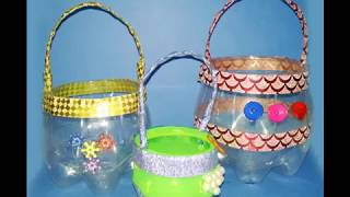 make flower basket with cold drink bottle from plastic bottle flower basket out of plastic bottles b