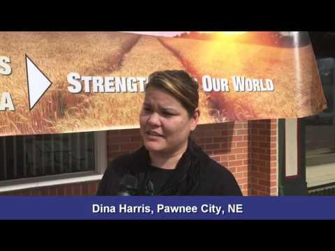 Dina Harris of Pawnee City, NE