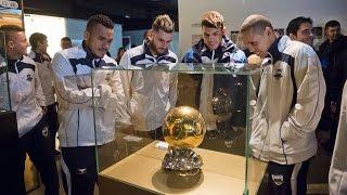 The Brazil national futsal team visits the Camp Nou Experience