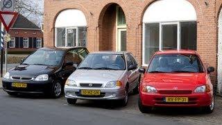 triotest Honda Logo vs. Suzuki Swift vs. Toyota Starlet