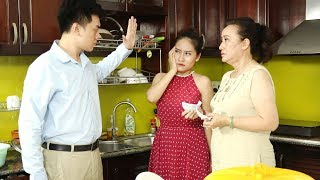The cheeky daughter-in-law has an intense quarrel with her mother-in-law