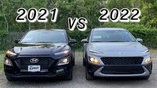 Hyundai Kona 2022 and 2021 Comparison Side By Side