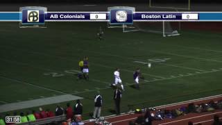 Acton Boxborough Varsity Boys Soccer @ Boston Latin 10/10/14