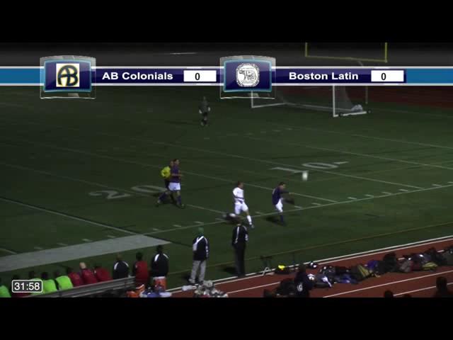 Acton Boxborough Varsity Boys Soccer @ Boston Latin 10/10/14