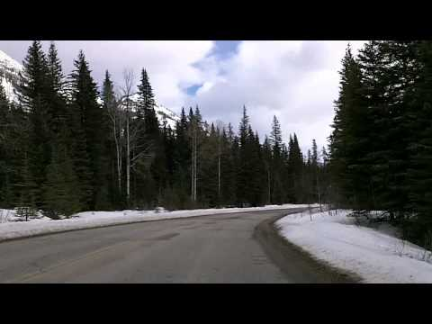Lake Louise to Banff, the Scenic Route: Alberta 1A Time Lapse Drive