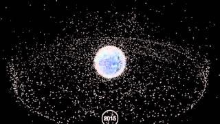 Видео из космоса: результат 60-ти лет создания космического мусора за одну минуту(Вокруг нашей планеты начиная с 1957 года по сей день ежедневно собирается космический мусор, состоящий из..., 2015-12-29T10:42:06.000Z)