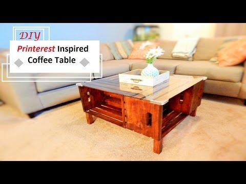 DIY Printerest Inspired coffee table
