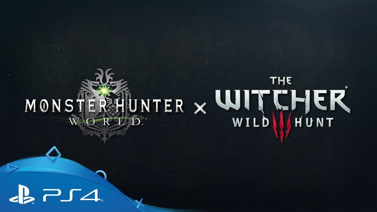 Monster Hunter: World | Monster Hunter x The Witcher 3 Trailer | PS4