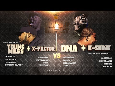 DNA/ K SHINE VS X-FACTOR/ MIDWEST MILES SMACK/ URL RAP BATTL