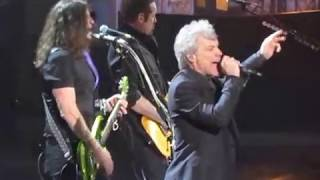 2018 Rock & Roll Hall of Fame BON JOVI Complete SHOT THRU THE HEART/You Give Love A Bad Name