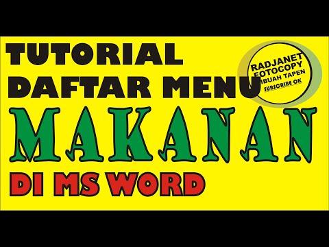 #radjanet||-tutorial-cara-membuat-daftar-menu-makanan-sederhana-nan-cantik-di-microsoft-word