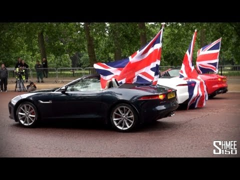 Top Gear: Clarkson, Hammond and May driving Jaguar F-Types