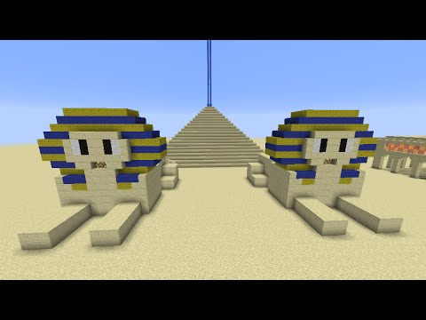 Tuto construction sphinx minecraft fr youtube for Construction maison simple