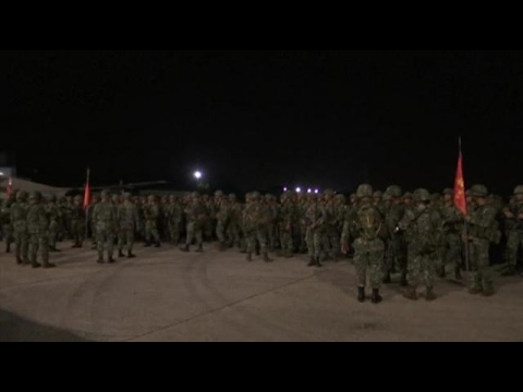 PH marines leave for besieged city of Marawi
