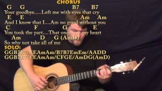 All of Me (Willie Nelson)Fingerstyle Guitar Cover Lesson with Chords/Lyrics