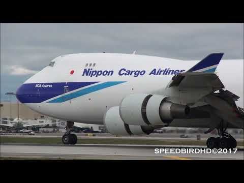 Nippon Cargo Airlines Boeing 747-4KZ(F) [JA06KZ] Landing and Taxi