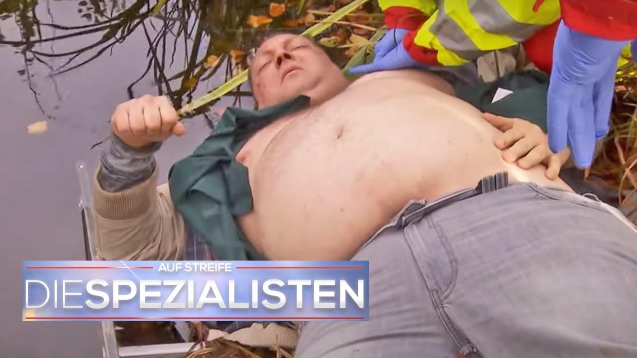 Patient fällt in den Gartenteich & Sanitäter kriegen ihn nicht mehr raus! | Die Spezialisten | SAT.1