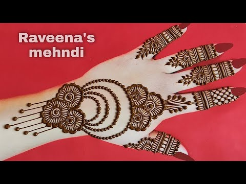 simple henna mehndi design for beginner|| latest arabic mehndi design|raveena's mehndi