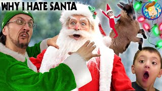 WHY I DON'T LIKE SANTA & our GOATS are going Crazy! (FV Family Buddy the Elf Vlog)